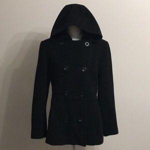 Ann Klein Hooded Pea Coat. Women's Size M